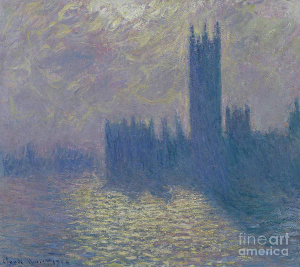 Stormy Sky Painting - The Houses Of Parliament Stormy Sky by Claude Monet