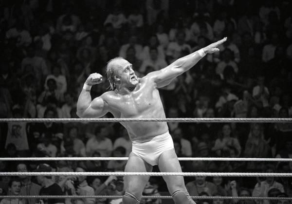 Wwe Wall Art - Photograph - The Hulkster 1988 by Bill Cubitt
