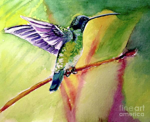 Painting - The Hummingbird by Allison Ashton
