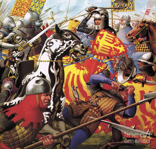 Wall Art - Painting - The Hundred Years War  The Struggle For A Crown by Pat Nicolle