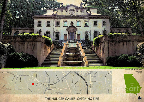 Hunger Painting - The Hunger Games Catching Fire Movie Location And Map by Drawspots Illustrations