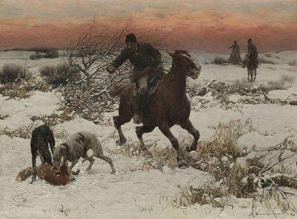 Painting - The Hunters by Alfred Kowalski