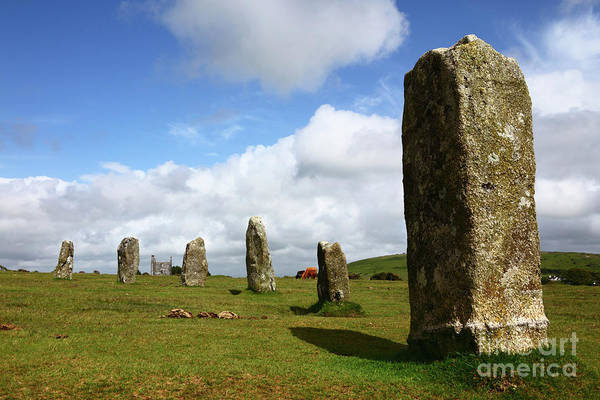 Photograph - The Hurlers Stone Circle Bodmin Moor Cornwall by James Brunker