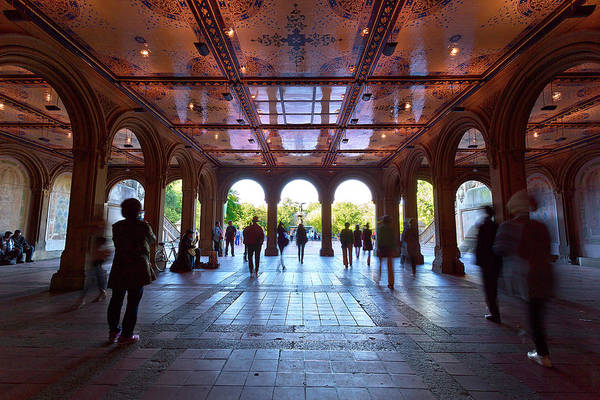 Bethesda Fountain Photograph - The Hustle by Brian Knott Photography