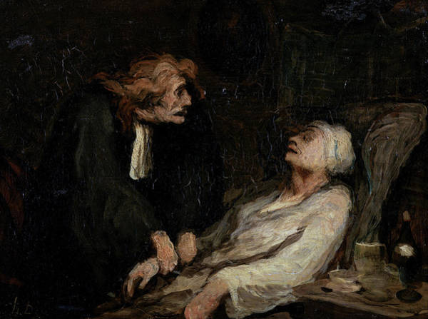 In Service Painting - The Hypochondriac by Honore Daumier