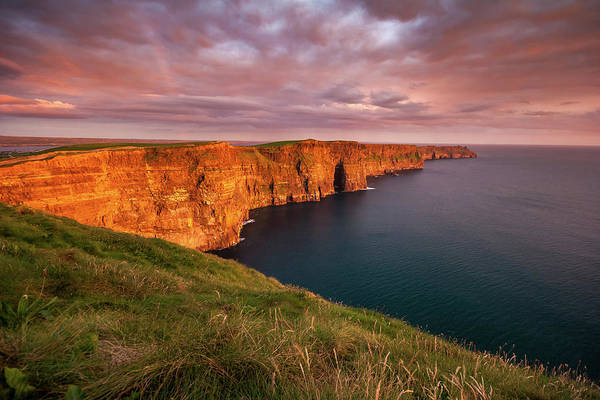 Photograph - The Iconic Cliffs Of Moher At Sunset On The West Coast Of Ireland by Pierre Leclerc Photography