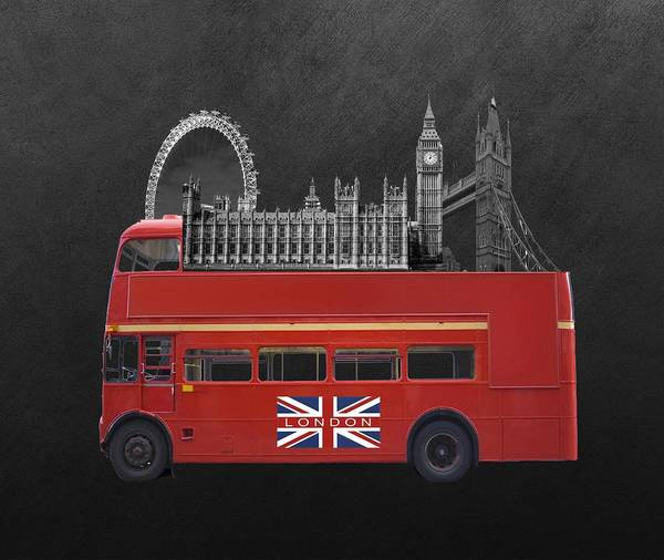 Big Ben Digital Art - The Icons Of London  by Art Spectrum