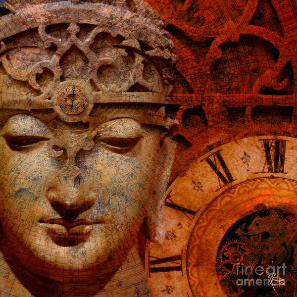 Art Print featuring the digital art The Illusion Of Time by Christopher Beikmann