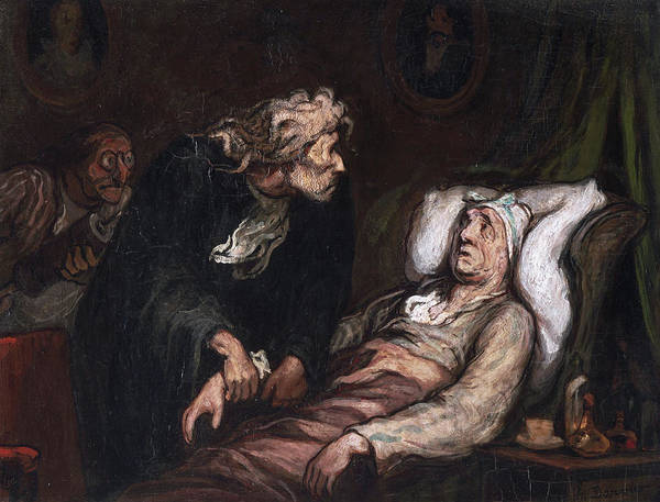 In Service Painting - The Imaginary Illness by Honore Daumier