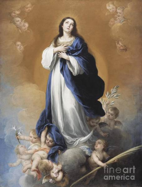 Immaculate Conception Wall Art - Painting - The Immaculate Conception  by Bartolome Esteban Murillo