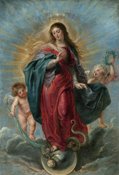 Saint Anne Painting - The Immaculate Conception by Peter Paul Rubens