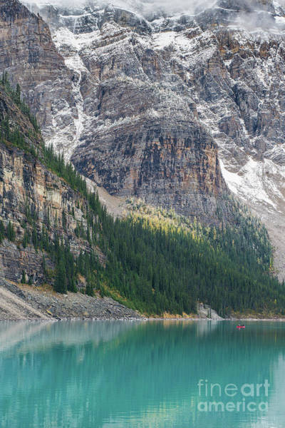 Moraine Lake Photograph - The Immensity Of Moraine Lake by Mike Reid