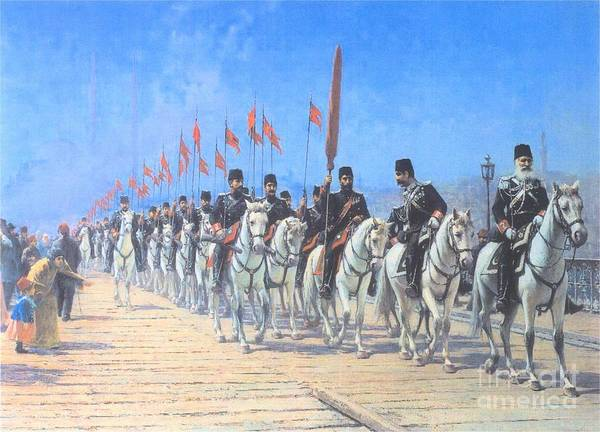 Fausto Zonaro Painting - The Imperial Regiment Of The Ertugrul by MotionAge Designs