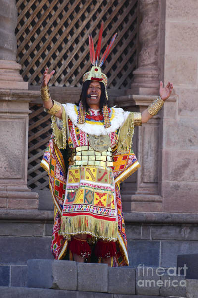 Photograph - The Inca At Inti Raymi by James Brunker