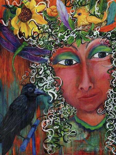 Crows Nest Wall Art - Painting - The Incarnation Of Nantosuelta by Debbie McCulley