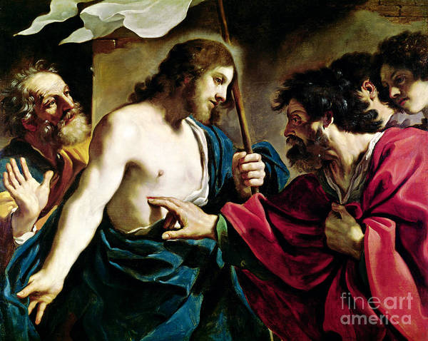 Finger Painting - The Incredulity Of Saint Thomas by Guercino