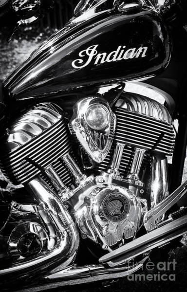 Photograph - The Indian Chief Motorcycle by Tim Gainey