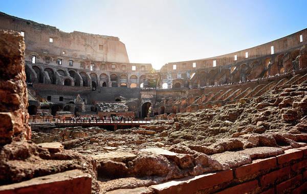Photograph - The Interior Of The Roman Coliseum by Fine Art Photography Prints By Eduardo Accorinti