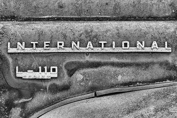 Photograph - The International L-110 In Black And White by JC Findley