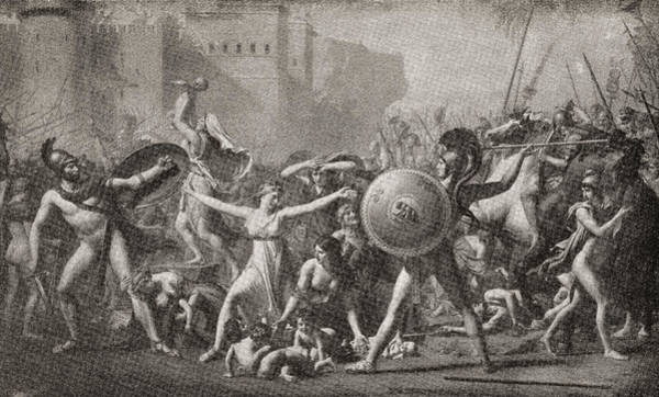 Wall Art - Drawing - The Intervention Of The Sabine Women by Vintage Design Pics
