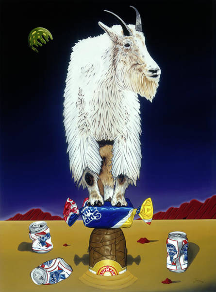 Painting - The Intoxicated Mountain Goat by Paxton Mobley