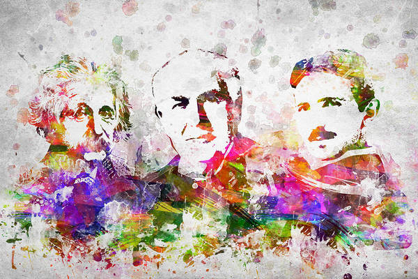 Einstein Wall Art - Digital Art - The Inventors by Aged Pixel