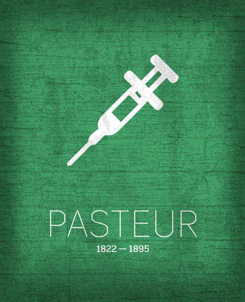 Wall Art - Mixed Media - The Inventors Series 017 Pasteur by Design Turnpike