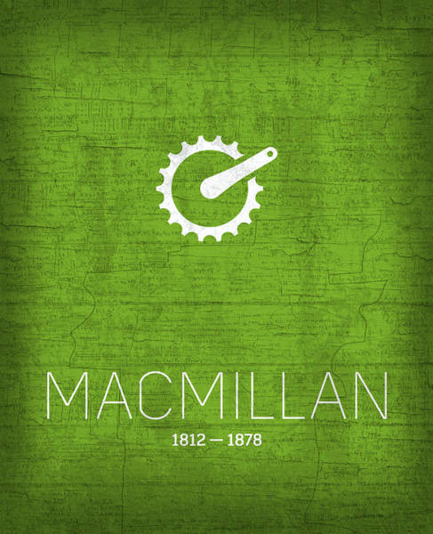 Pedal Wall Art - Mixed Media - The Inventors Series 025 Macmillan by Design Turnpike