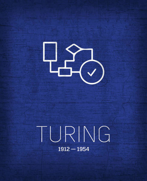 Alan Turing Wall Art - Mixed Media - The Inventors Series 030 Alan Turing by Design Turnpike
