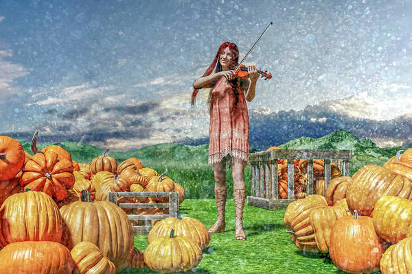 Wall Art - Digital Art - The Irish Pumpkin Harvest by Betsy Knapp