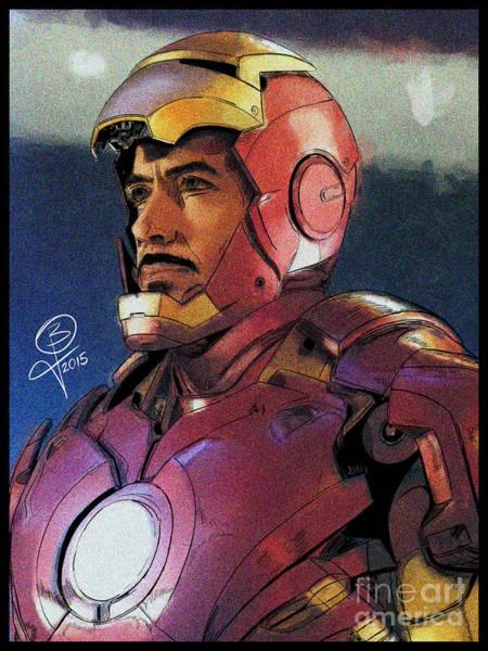 The Iron Avenger Art Print by Joseph Burke