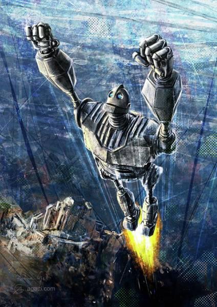 Cielo Wall Art - Digital Art - The Iron Giant by Andrea Gatti