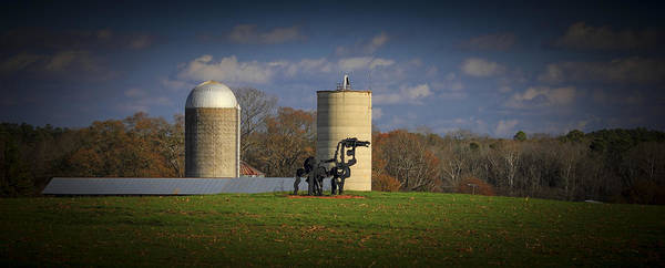 Photograph - The Iron Horse Classic Silos 2 by Reid Callaway