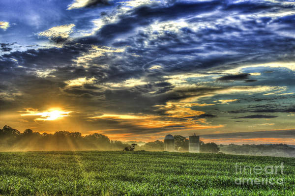 Time Magazine Photograph - The Iron Horse New Corn Sunrise by Reid Callaway