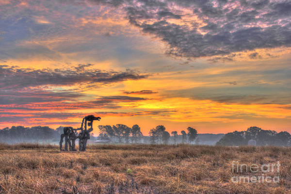 Time Magazine Photograph - The Iron Horse New Sunrise by Reid Callaway