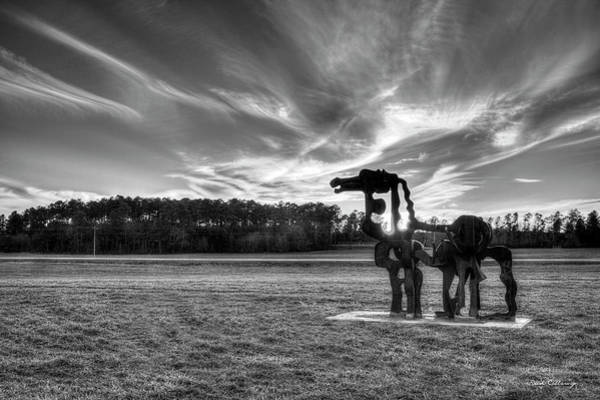 Photograph - The Iron Horse Sunset 7 B W The Iron Horse Collection Art by Reid Callaway