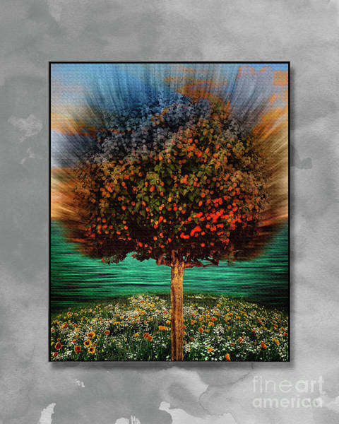 Digital Art - The Island by Edmund Nagele
