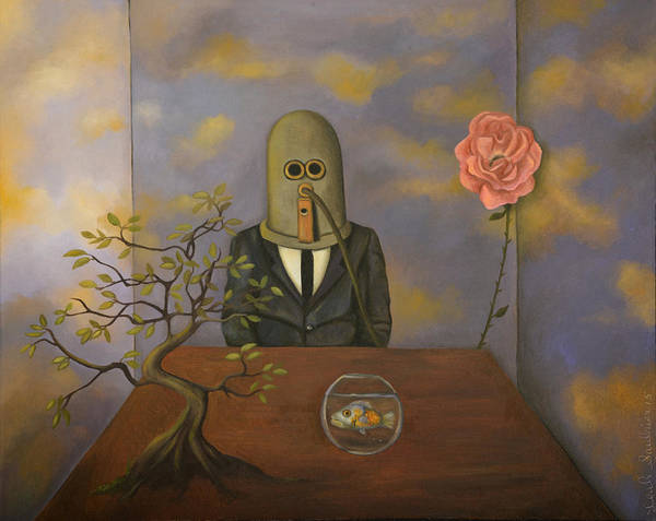 Isolator Wall Art - Painting - The Isolator by Leah Saulnier The Painting Maniac