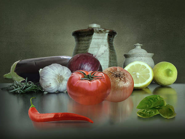 Ingredients Digital Art - The Italian Kitchen by M Spadecaller