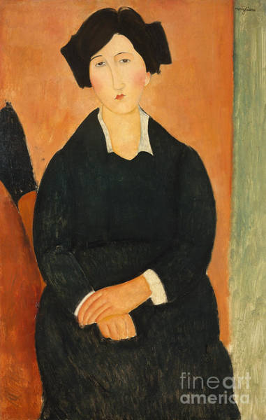 Orange Hair Painting -  The Italian Woman, 1917  by Amedeo Modigliani