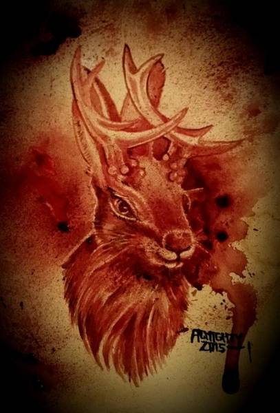It Professional Painting - The Jackalope  by Ryan Almighty