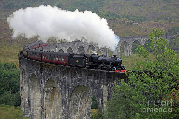 Photograph - The Jacobite Steam Train by Maria Gaellman