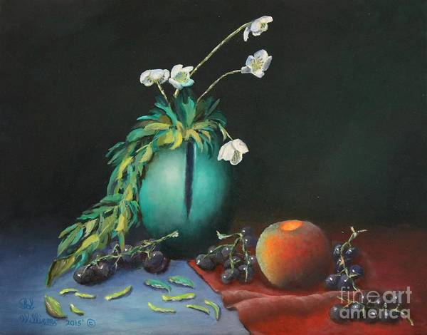 Painting - The Jade Vase And Jasmine by Bob Williams