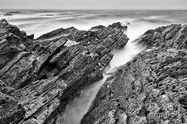 Wall Art - Photograph - The Jagged Rocks And Cliffs Of Montana De Oro State Park In Cali by Jamie Pham