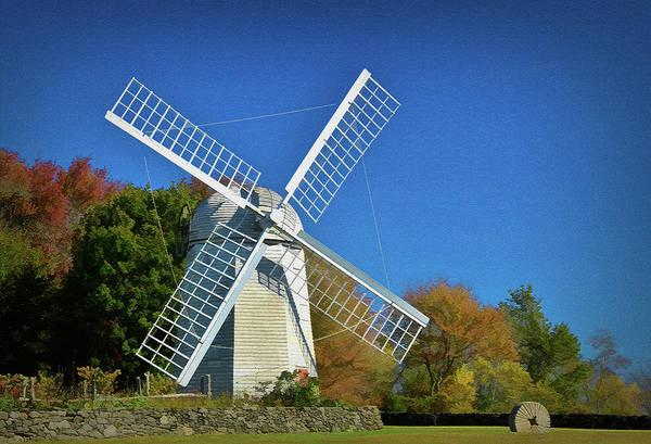 Photograph - The Jamestown Windmill by Nancy De Flon