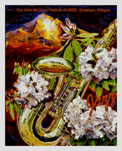 Wall Art - Painting - The Jazz Poster That Never Was by Mike Hill