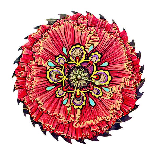 Blades Mixed Media - The Jessie-rose Clock Blossom by Jessica Sornson