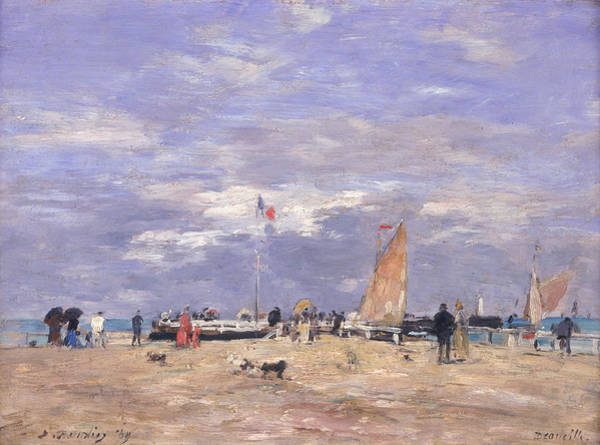 Jetty Painting - The Jetty At Deauville by Eugene Louis Boudin
