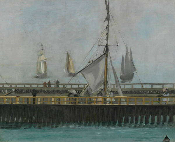 Painting - The Jetty Of Boulogne Sur Mer by Edouard Manet