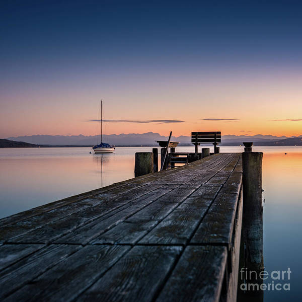 Photograph - The Jetty To Sunset by Hannes Cmarits
